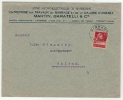Suisse // Schweiz // Switzerland // 1907-1939 //  Lettre De Finhaut Pour Salvan Le 9.01.921 - Lettres & Documents