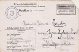 Correspondance Prisonnier De Guerre Stalag VI G 7/2/1942 à Vichy Allier Territoire Non Occupé - Censure - Poststempel (Briefe)