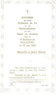 Souvenir Profession De Foi De Marcelle Et Jules Stiers à Walcourt - Obj. 'Remember Of'