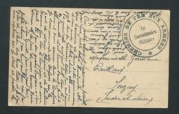 """Oblitération """" Chemin De Fer Aux Armées - Le Commissaire Militaire """" Envoi De Mainz Allemagne Vers 1920  -  Vad15 - Marcofilie (Brieven)"""