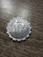 Monnaie De Nécessité - Région Provençale - Chambres De Commerce - 10 Centimes 1921   En L Etat Sur Les Photos - Monétaires / De Nécessité