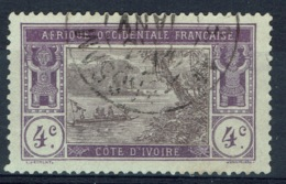 Ivory Coast, 4c., Ebrié Lagoon, 1913, VFU postmark From GRAND-BASSAM - Ivory Coast (1892-1944)