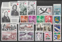 Réunion (CFA) Lot De 20 Tp 1949-66 ** - La Isla De La Reunion (1852-1975)