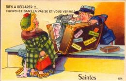 Charente Maritime, Saintes, Carte A Systeme  Rien A Declarer ?....       (bon Etat) - Saintes