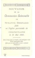 Souvenir De La Cmmunion Solennelle De Suzanne Bernard à Cerfontaine - Obj. 'Remember Of'