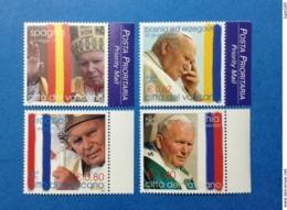 2004 VATICANO FRANCOBOLLI NUOVI STAMPS NEW MNH** Viaggi Papa Giovanni Paolo II Nel 2003 SPAGNA BOSNIA CROAZIA SLOVACCHIA - Vatican