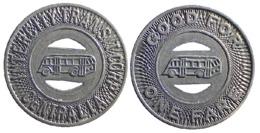 01748 GETTONE TOKEN JETON FICHA TRASPORTI TRANSIT BUS ILLINOIS CENTRALIA 1948 - Espagne