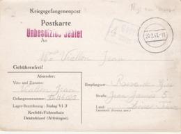 Correspondance Prisonnier De Guerre Stalag VI J 20/2/1941 à Rive De Gier Loire - Pays Non Occupé - Censure - Marcofilie (Brieven)