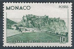 MONACO 1939 - YT N°184 - 10 F. - Vert - Inauguration Du Stade Louis II - Neuf* - TTB Etat - Unused Stamps