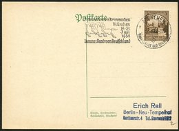 MÜNCHEN 1938, MAS-STPL INT. RENNWOCHEN AUF DR 665, PK, SAMMLERBELEG! - Lettres & Documents
