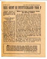 "WWII Tract Flugblatt Leaflet Soviet Propaganda Against Germany ""WAS GEHT IN DEUTSCHLAND VOR"" 4.1942 Nr 141 CODE 1301 (4) - 1939-45"