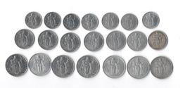 POLYNESIE FRANCAISE - Lot De 21 Piéces En Aluminium ( 7 De 1fr, 7 De 2 Frs, 7 De 5 Frs) 1949 A 1985 - French Polynesia
