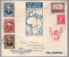 CONGO- LETTRE -ELISABETHVILLE 1936    - UN5 - Congo Belge