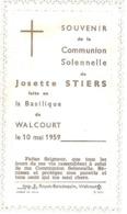 Souvenir De La Communion Solennelle De Josette Stiers De Walcourt - Obj. 'Remember Of'