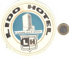 ETIQUETA DE HOTEL  -LIDO HOTEL  -BRASIL - Etiquetas De Hotel