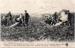 Bataille De La Marne (6, 13 Sep. 1914) Batterie D 75 Sur Le Signal De BEAUZEE (Meuse) BULAINVILLE Détruit (117682) - War 1914-18
