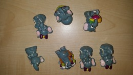 7x Kinder Elephant - Ferrero - Kinder & Diddl