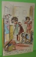 Carte Postale GERMAINE BOURET Paillettes & Découpis Carte à Système La Belle Robe De La Patronne Aller Voir Mon Nénesse - Bouret, Germaine