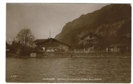 Carte Photo - Iseltwald - Pension Brunner Et Châlet Mon Repos - Circulée En 1913 - 2 Scans - BE Berne