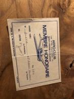 314/ AEROCLUB LES AILES OLERONAISES SAINT PIERRE D OLERON MEMBRE HONORAIRE ANNEE 1986 - Vecchi Documenti