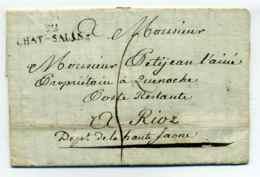 53 CHATEAU SALINS ( CHAT-SALINS) / Dept De La Meuse / 1810 - Marcophilie (Lettres)