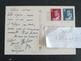 LETTRE ESPAGNE ESPANA SPAIN AVEC YT 1993 ET 2234 ROI JUAN CARLOS 1er - VALENCIA MULTIVUES - 1991-00 Lettres