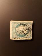 N°60A, 25 Cts Bleu, GC 2130, Lury Sur Arnon,  Cher, - Marcophilie (Timbres Détachés)