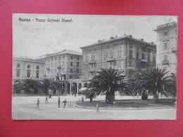 SAVONA  ( LIGURIA ) Plazza Goffredo MAMELI  -  CROCE ROSSA   - CROIS ROUGE  1917 - Savona