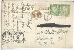IRLANDA TP A USA TASADA POSTAGE DUE 1932 - 1922-37 Stato Libero D'Irlanda