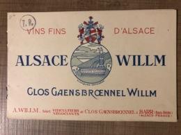 Vins Fins D'Alsace ALSACE WILLM Glos Gaensbroennel Willm - Altri