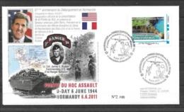 Enveloppe Souvenir Du 6 Juin 2011 Pointe Du Hoc - Frankrijk