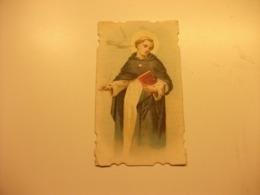 SANTINO HOLY PICTURE IMAGE SAINTE  PREGHIERA A SAN TOMASO D'AQUINO DOTTORE PIEGA ANGOLO - Religion & Esotericism