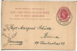 CAPE OF GOOD HOPE ENTERO POSTAL 1900 - África Del Sur (...-1961)