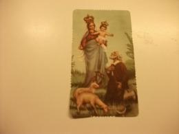 SANTINO HOLY PICTURE IMAGE SAINTE  ORAZIONE A N. S. DELLA GUARDIA PIEGA ANGOLO 2079 - Religion & Esotericism