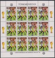 Soccer World Cup 1998 - Football - Turkmenistan - Sheet Perf. MNH - 1998 – France