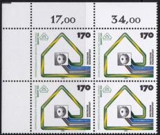 """BRD, 1993 Nr. 1648 **,  Viererblock Mit Eckrand Oben Links, """"100 Jahre VDE"""" - Nuovi"""