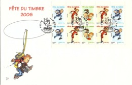 FRANCE - ENVELOPPE GRAND FORMAT FÊTE DU TIMBRE 2006 - SPIROU   / TBS - Postzegels