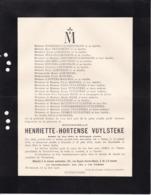 MENIN STROMBEEK Henriette-Hortense VUYLSTEKE 1816-1912 Familles LORTHIOIS DESURMONT NOLF - Avvisi Di Necrologio
