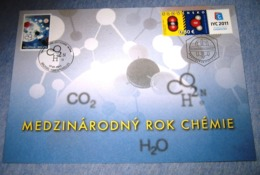 Herdenkingskaart - Carte-souvenir Slovakije Chemie 4096 HK (Chimie) - Souvenir Cards