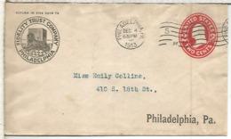 ESTADOS UNIDOS USA 1913 PHILADELPHIA ENTERO POSTAL FIDELITY TRUST PERRO DOG - Chiens