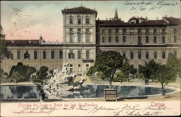 Cp Torino Turin Piemonte, Facciata Del Palazzo Reale Dal Lato Del Giardino - Italia