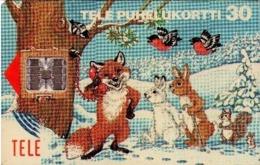 FINLANDIA. Winter Animals. 11/1993. FI-SON-D-0029. (686). - Tarjetas Telefónicas