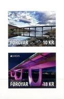 """FEROE ISLANDS/ FAROE/ FÄRÖER/ FØROYAR - EUROPA 2018 - """"PUENTES.- BRIDGES - BRÜCKEN - PONTS"""" - SERIE De 2 V, Tipo C - 2018"""