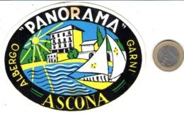 ETIQUETA DE HOTEL  - ALBERGO PANORAMA GARNI  -ASCONA  -SUISSE - Etiquetas De Hotel