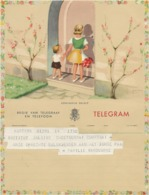 BELGIQUE -TELEGRAMME ILLUSTREE - Telegraphenmarken