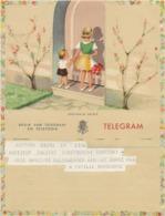 BELGIQUE -TELEGRAMME ILLUSTREE - Telegraph