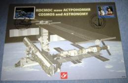 Herdenkingskaart - Carte-souvenir Kazakhstan 3916(o) Cosmos And Astronomy - Souvenir Cards