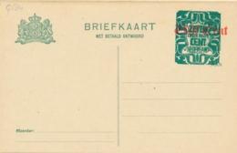 Nederland - 1921 - 7,5+7,5 Op 5+5 Op 3+3 Cent Bontkraag, Briefkaart G184 - Ongebruikt - Entiers Postaux