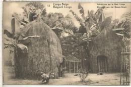 CONGO BELGA ENTERO POSTAL 1921 CASAS TIPICAS ARQUITECTURA - Otros