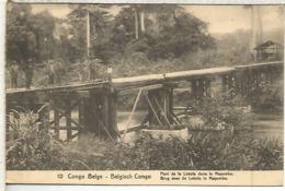 CONGO BELGA ENTERO POSTAL 1921 PUENTE SOBRE EL MAYUMBE BRIDGE - Puentes